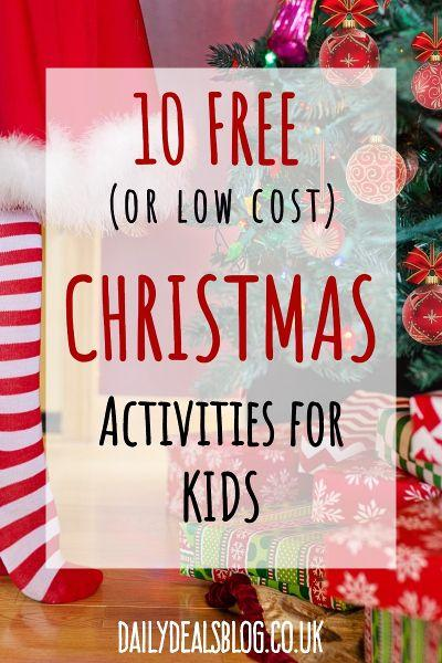 10 free or low cost christmas activities for children