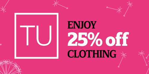 25% Off TU Clothing