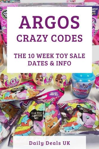 Argos Crazy Codes 2021 - 10 Week Toy Sale, Deal & Voucher Event