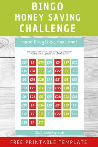 Bingo Savings Challenege