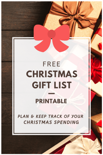 Free Printable Christmas Gift List Planner