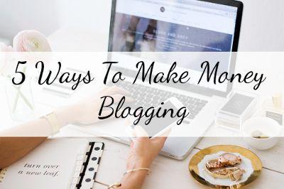 Make money working from home as a blogger
