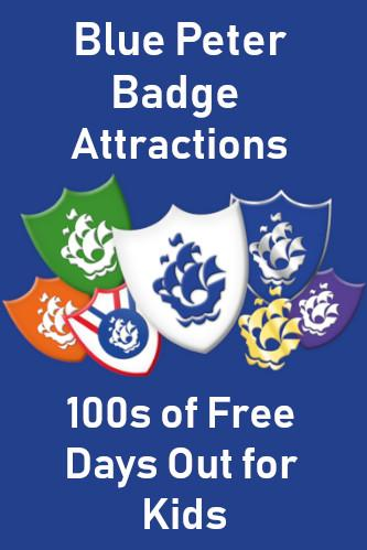 Blue Peter Badge Attractions - 100s of FREE Days Out for Kids