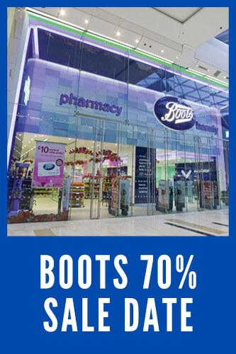 Boots 70% Sale Date 2021 - Start Time, Sale Tips & Tricks