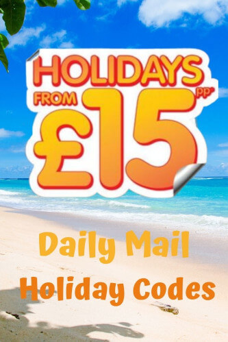 Daily Mail Holiday Codes 2021 - Bag a UK Break from £15pp