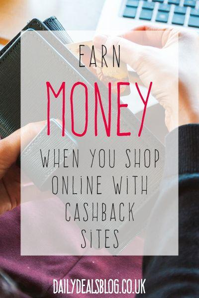 earn money when you shop online with cashback websites