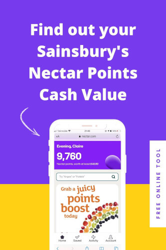 free nectar points calculator