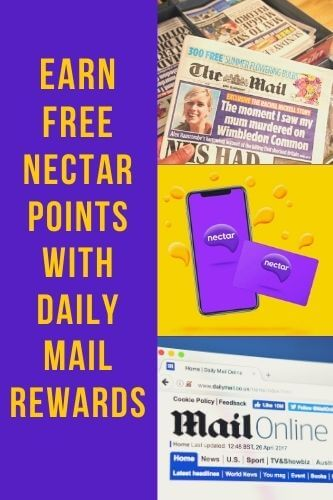 Mail Rewards - FREE Nectar Points with Daily Mail Rewards Club