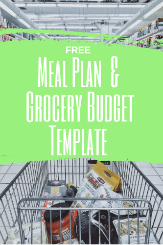 free meal plan grocery budget printable