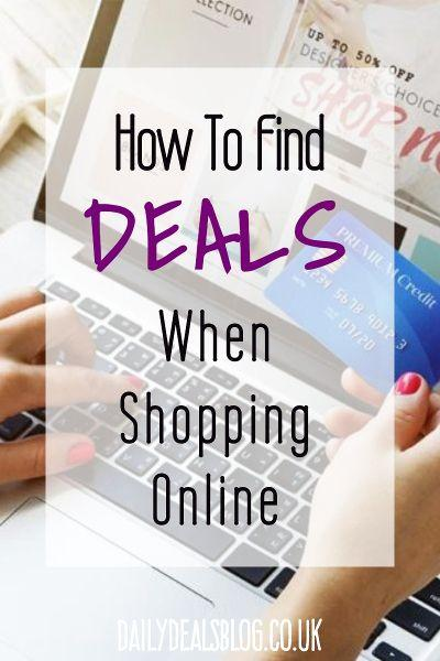 how to find deals when shopping online