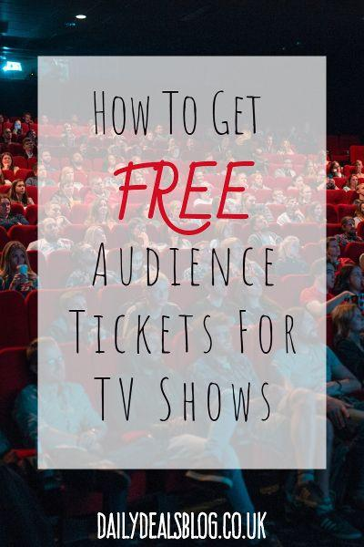 how to get free seats in tv show audiences