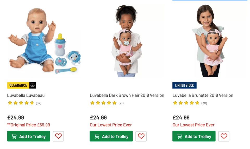 luvabella dolls deal