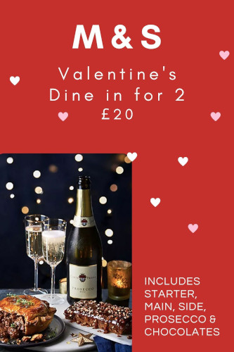 Marks & Spencer Valentine's Dine-In Meal Deal 2021