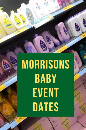 Morrisons Baby Event Dates 2021 - The Next Child & Baby Sale