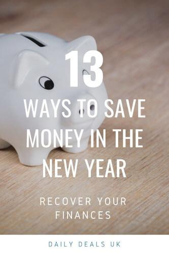 save money and recover financially in the new year