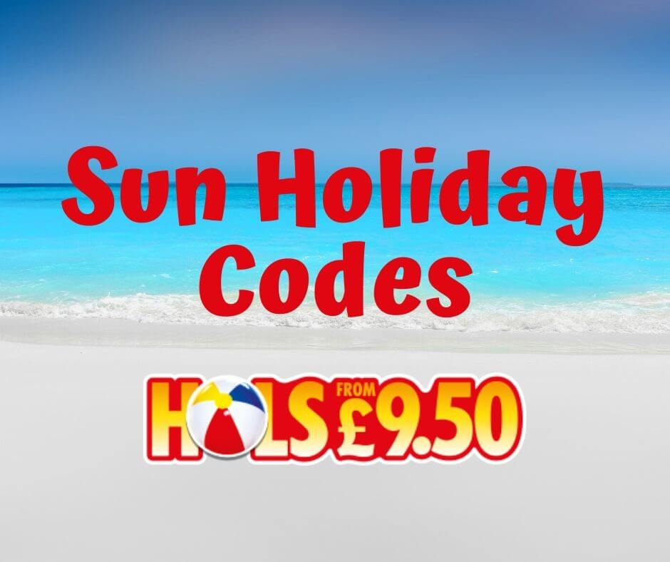 Sun £9.50 Holiday Codes