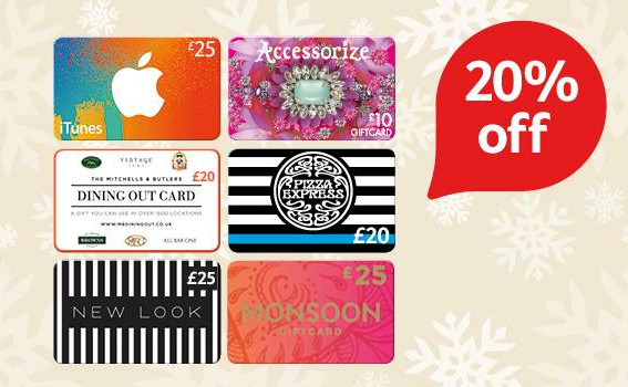 tesco 20 off giftcards