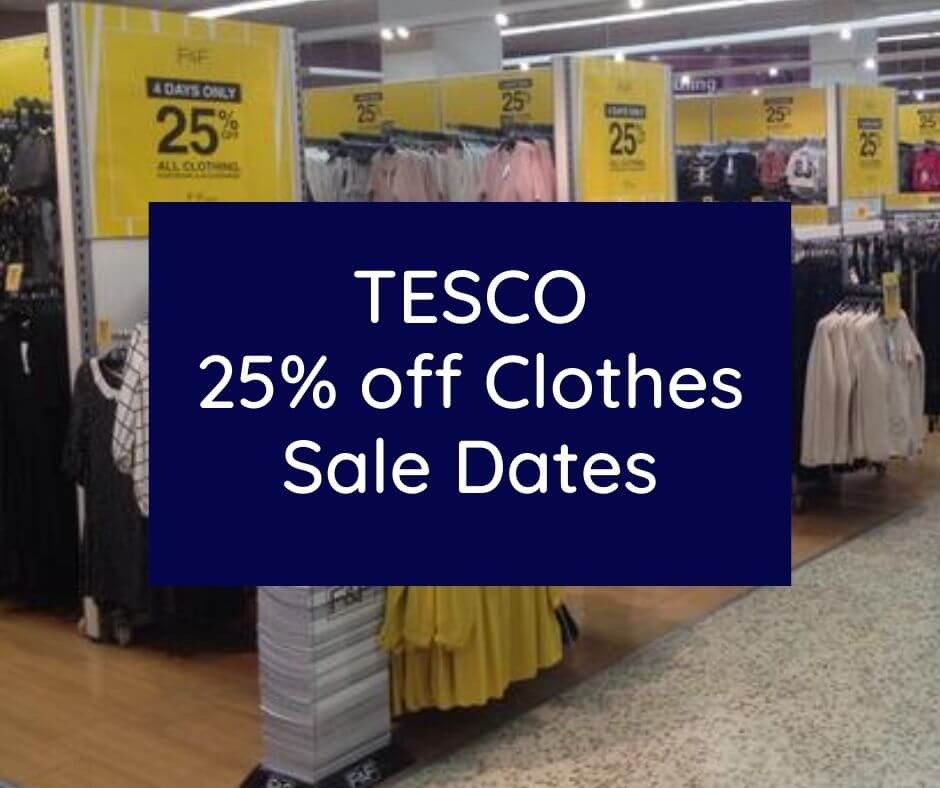 Tesco 20% off Clothing Date