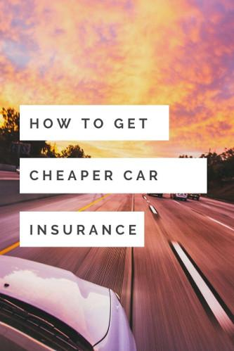 ways to get cheap car insurance