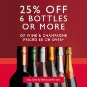 25% off 6 bottles of wine @ Waitrose & Partners
