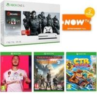 Xbox One S 1TB + Gears 1-5, Fifa 20, The Division 2, Crash Team Racing & Now TV £219 delivered @ Game