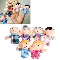 6Pcs Family Finger Puppets £1.10 delivered @ Ebay