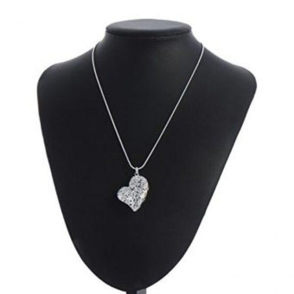 Solid silver heart necklace £2.96 delivered