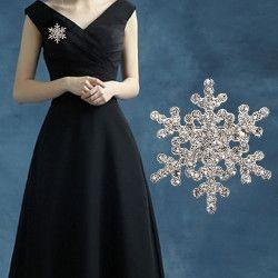 Women's Snowflake Diamante Brooch 99p delivered