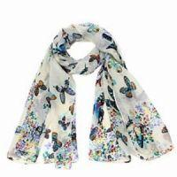 Chiffon Butterfly Print Scarf £1.39 with free delivery