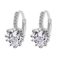 Sterling Silver Diamonte Stud Earrings 70p delivered @ Amazon
