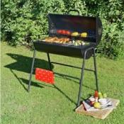 Charcoal Oil Drum BBQ with Warming Rack £40 @ Argos