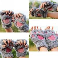 Novelty Fingerless Faux Fur Gloves £1.79 delivered