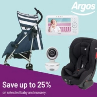 Up to 25% off Baby & Nursery @ Argos