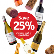 25% off 6 Bottles of Wine (or more) @ Sainsbury's