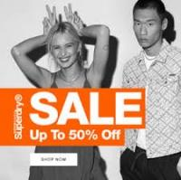50% off Sale + Free Delivery @ Superdry
