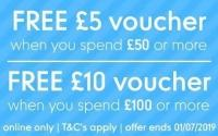 Free £5 or £10 Voucher with £50 + £100 Spends @ Mothercare