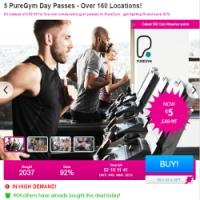 PureGym 5 Passes for £5 @ Wowcher