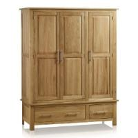 Triple Wardrobe was £899 now £69.99 @ Oak Furniture Land