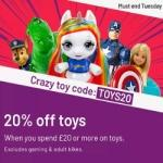 20% off ALL Toys (includes reductions & 2 for £15) @ Argos