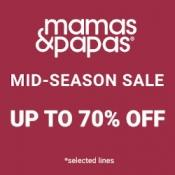 Up to 70% off + Free Delivery in the Sale @ Mamas & Papas