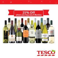 25% off 6 bottles of wine @ Tesco