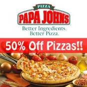 50% off Pizzas when you spend £20 @ Papa John's