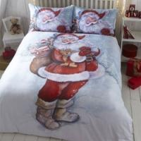 Santa Christmas Bedding £5.98 delivered in all sizes up to Superking @ eBay