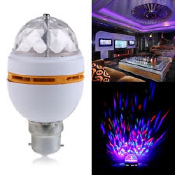 Crystal Ball Rotating LED Disco Light Bulb  £2.19 delivered