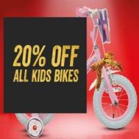 20% off all Kids Bikes @ Halfords