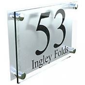 Aluminium House Name & Number Sign £8.50 delivered @ Amazon