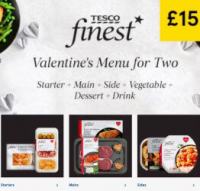 Tesco Valentines Meal for 2 for £15 NOW LIVE