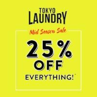 Mid Season Sale - 25% off everything @ Tokyo Laundry
