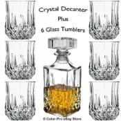 Crystal Decanter + 6 Whiskey Glasses - £7.99 delivered @ Ebay