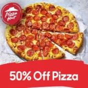 50% off pizzas when you spend £15+ online @ Pizza Hut